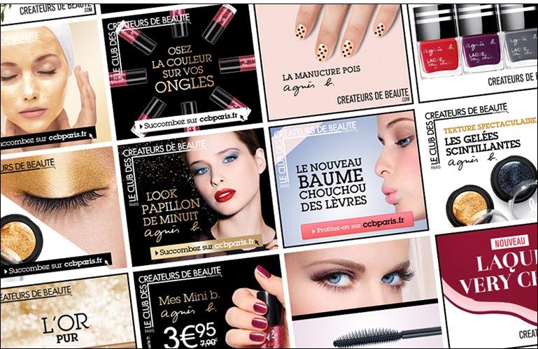 Création de campagnes de publicité digitales Créateurs de Beauté (L'Oréal)