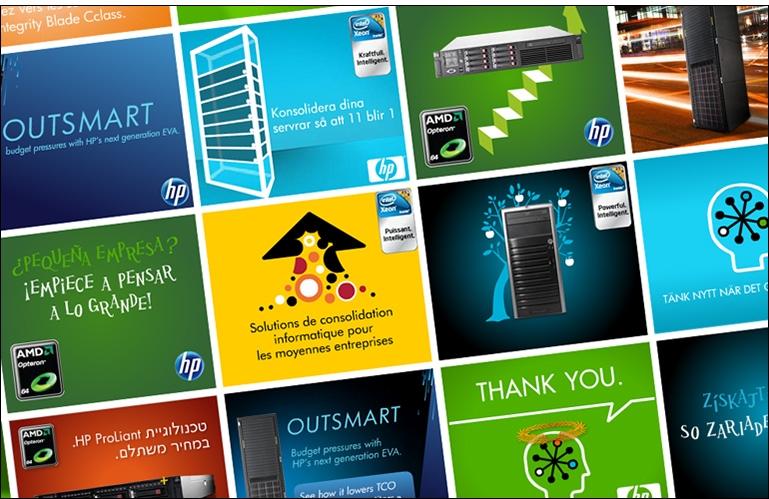 Création de campagnes de publicité digitales pour HP