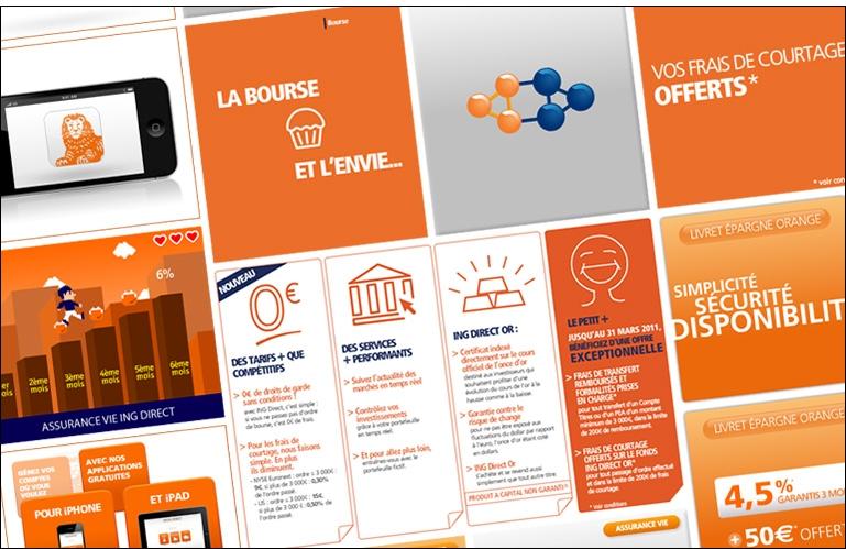 Création graphique et campagnes de pub pour ING Direct