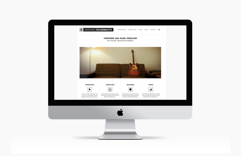 Responsive web design tschernuth.com