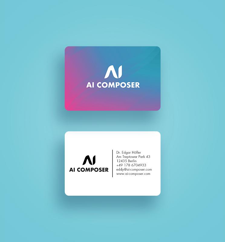 Identité visuelle et logo pour AI Composer