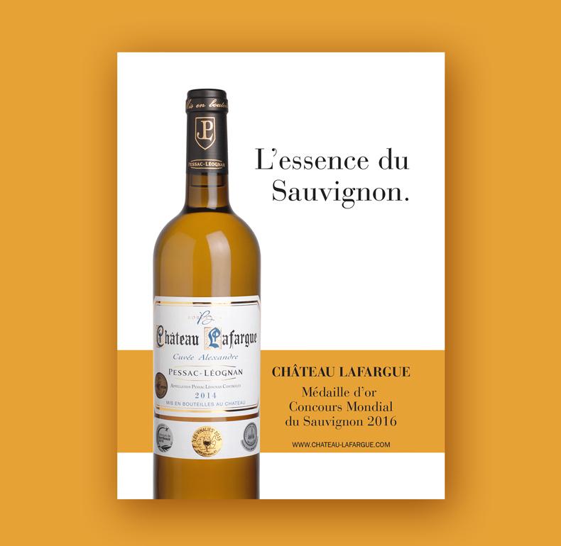 Publicité pour le Château Lafargue (presse)