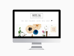création du site e-commerce de Ritual-Interiors by Kronbali